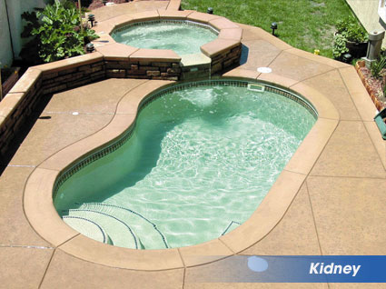 Kidney shaped swimming pools from Affordable Pools LLC