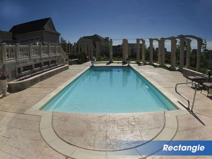 Rectangle swimming pools for Louisiana